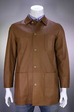 * RALPH LAUREN * Purple Label Brown Lambskin Leather Jacket Coat~ Large
