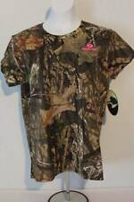 NEW Womens T Shirt Mossy Oak Break Up Country Camo Size Large Top Deer Hunting
