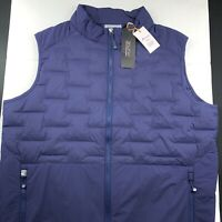 Peter Millar Crown Sport Hyperlight Performance Quilted Vest Navy Large $225