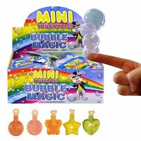 MINI MAGIC TOUCHABLE BUBBLES CHILDS TOY WEDDING FAVOR BIRTHDAY PARTY BAG FILLER