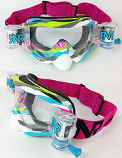 RIP N ROLL MOTOCROSS MX ENDURO GOGGLES HYBRID RnR NUEVO ROCOSO rosa fully loaded