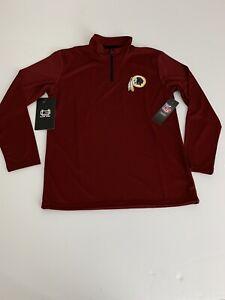 NFL Team Apparel Washington Redskins Quarter Zip Pullover Jacket Boy's XL NEW