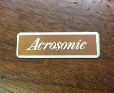 Baldwin Acrosonic Piano Cabinet Decal Plate