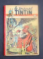 TINTIN album éditeur n°3. Edition belge n°24 à 40 de 1947. Couverture JACOBS