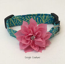 Tropical Isle Dog Collar Size XS-L by Doogie Couture