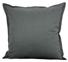 "Solid Gray Cotton Cushion Cover Home Decor Sofa Throw Pillow Case 18""X18"" Chair"