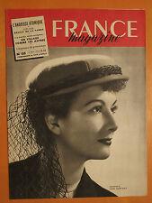 FRANCE magazine N° 135 du 12/03/1950-Chapeau Jean Barthet-Detin de la Sarre