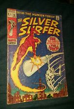 SILVER SURFER #15 VG variant HUMAN TORCH! Stan Lee John Buscema Marvel Comics