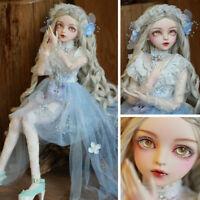 60cm BJD Doll Puppe 1/3 Mädchen Geschenk Augen Perücken Kleidung Xmas Gift Toys