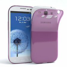 Ultra Slim Cover für Galaxy S3 / Neo Case Silikon Hülle Transparent Lila