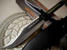 "Amazon Jungle Survival Combat Fighter Hunter Bowie Knife Kit Sheath 13 1/4"" OA"