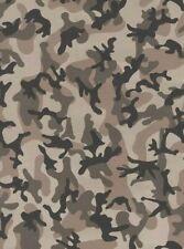 P+S Camouflage Tapete Braun Khaki Grün Beige
