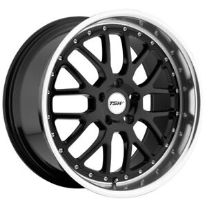 "TSW Valencia 19x8 5x112 +45mm Gloss Black Wheel Rim 19"" Inch"