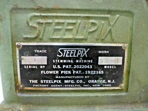 Vintage STEELPIX Professional Floral Stemming Machine Model 35-B