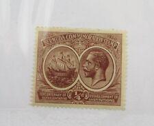 Bermuda Scott #55 sailing ship mint hinged, very fine + 102 card, superfleas