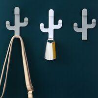 Hat Handbag Wall Mounted Cactus Shaped Hanger Storage Rack Key Holder Wall Hook
