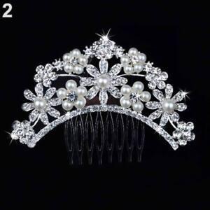 Wedding hair Accessories Silver Hair Comb Pearls Clip Pin Bridal Bride Arch