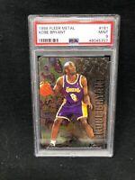 1996-97 Kobe Bryant Fleer Metal Basketball Rookie Card 181 Graded PSA 9 Mint Y63