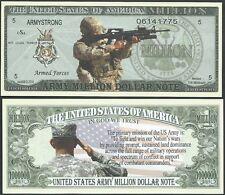 Lot of 100 BILLS - US ARMY MISSION MILLION DOLLAR BILL