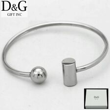 "Steel,Cuff Bracelet + Box Dg Women's 6.5"" Silver Stainless"