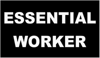ESSENTIAL WORKER BUMPER STICKER DECAL