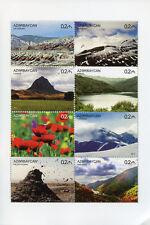 Azerbaijan 2017 MNH Nature Flowers Trees Mountains 8v M/S Tourism Stamps