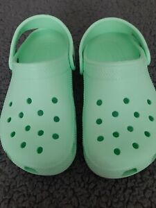 Mint Green Classic Crocs - Size 3 Junior - Genuine - Great Condition