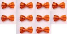 LOT OF 10 Orange Men's Adjustable Bowties/Bow tie Tuxedo Wedding