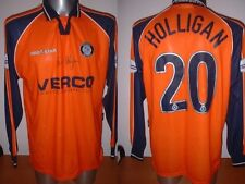 Wycombe Wanderers HOLLIGAN Signed Matchworn Football Soccer Shirt Jersey Adult L