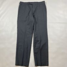 Ted Baker Men's Size 32R Luxury 100% Wool Gray Trousers *Teeny Tiny Ink Mark