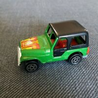 Majorette Jeep No. 268 Green w Black Hard Top 1/54 Made in France