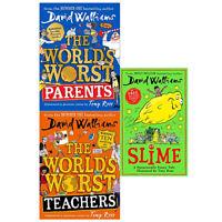 David Walliams Collection 3 Books Set (World's Worst Parents ,Teachers ,Slime)