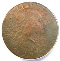 1793 Flowing Hair Chain Cent 1C Coin - Certified ANACS VF20 Detail (Very Fine)