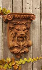 Vintage Lion Architectural Wall Plaque Garden Sculpture Art Decor -Faux Stone