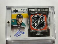 🔥2018-19 THE CUP Josh Mahura #1/1 NHL Rookie SHIELD Auto LOGO UD Exquisite