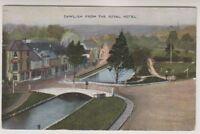 Devon postcard - Dawlish from the Royal Hotel - P/U 1942 (A1592)