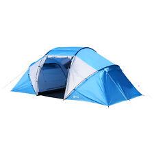 Outsunny Tente de Camping Familiale 4-6 Personnes 2 Cabines 4,6 x 2,3 x 1,95 m