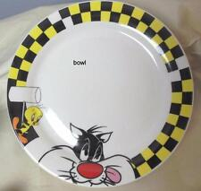 """Tweety Bird and Sylvester Soup Cereal Bowl 6.5"""" Looney Tunes Gibson"""