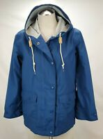 Woolrich Womens Waterproof Rain Jacket Raincoat Size XS Blue Hooded Trench Zip