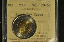 Canada 2005 Toonie 2 Dollar - First Day Issue - ICCS - MS65 -