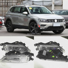 Left +Right Fog Light With H8 Bulbs Driving Lamp For Volkswagen Tiguan 2017-2019