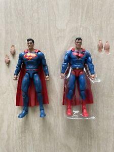 DC Multiverse Kingdom Come Superman & Rebirth Superman Figure Lot Loose Complete