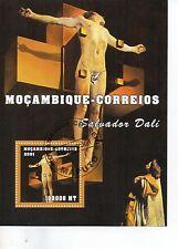 M0CAMBIQUE CORREIOS SALVADOR DALI THEME PAINTING JESUS CHRISTIAN # 11