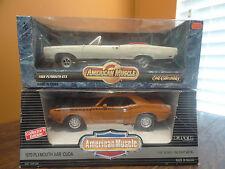 American Muscle Ertl 1969 Plymouth GTX Convertible 1970 AAR Cuda 1:18 Die Cast