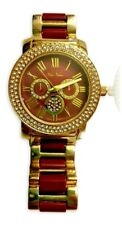 Vice Versa Accessory Watch Burgundy and Gold