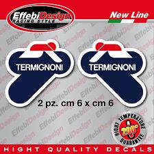 Adesivi Stickers TERMIGNONI 200° exaust scarico Ducati Honda Bmw H.QUALITY
