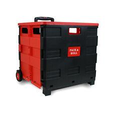 Einkaufstrolley Einkaufswagen Trolley Korb mit Rollen klappbar 35kg mit Deckel