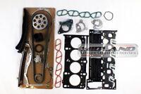 VAUXHALL MERIVA 03-10 1.3 CDTi 16v ENGINE HEAD GASKET SET+BOLTS+TIMING CHAIN KIT