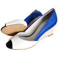 RRP £82 Top Brand Womens Ladies Wedge Heel Pumps Slip On Casual Work Shoes UK3-7