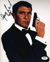 George Lazenby Psa Dna Coa Signed 8x10 James Bond Photo Autograph
